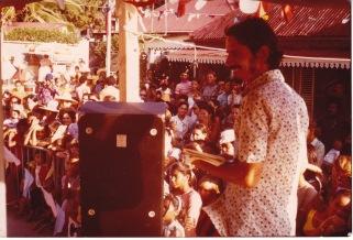 L'auteur animant la fête du 15 août en 1972