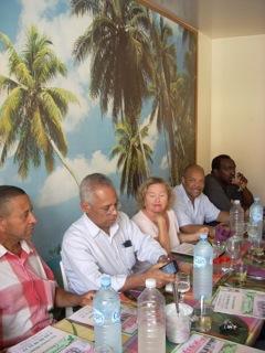 En séance de travail avec le Ministre des Outre-Mers, M. Victorin Lurel