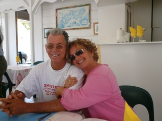 Avec son compagnon Rodolphe Foy