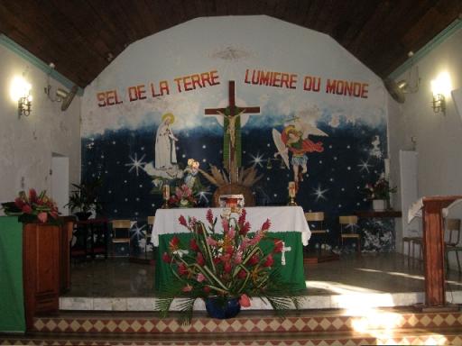 Chœur de l'église de Terre-de-Haut : artiste inconnu (Photo R. Joyeux)