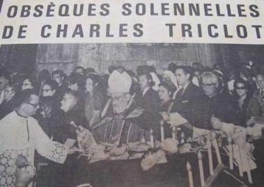 Les obsèques de Charles Triclot furent célébrées par ses deux frères, prêtres en Martinique (Document France Antilles)