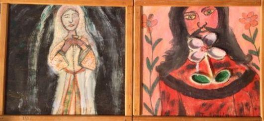 Vierge en prière et Christ à la fleur. Ph.R.Joyeux