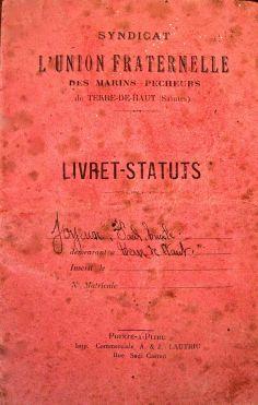 Livret de 1934 ayant appartenu à P.E. Joyeux