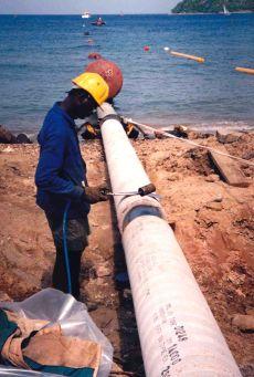 Préparation d'un élément de la canalisation