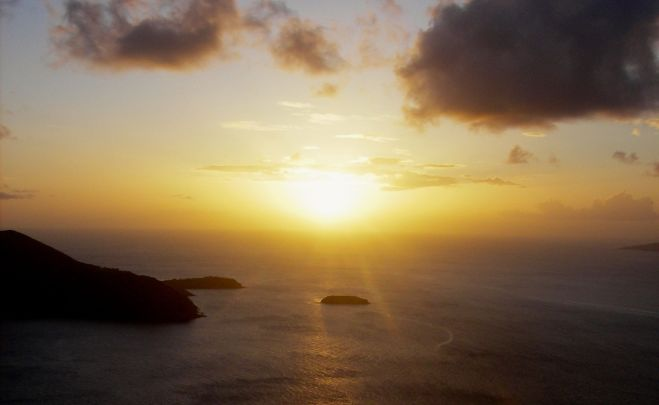 coucher soleil chameau