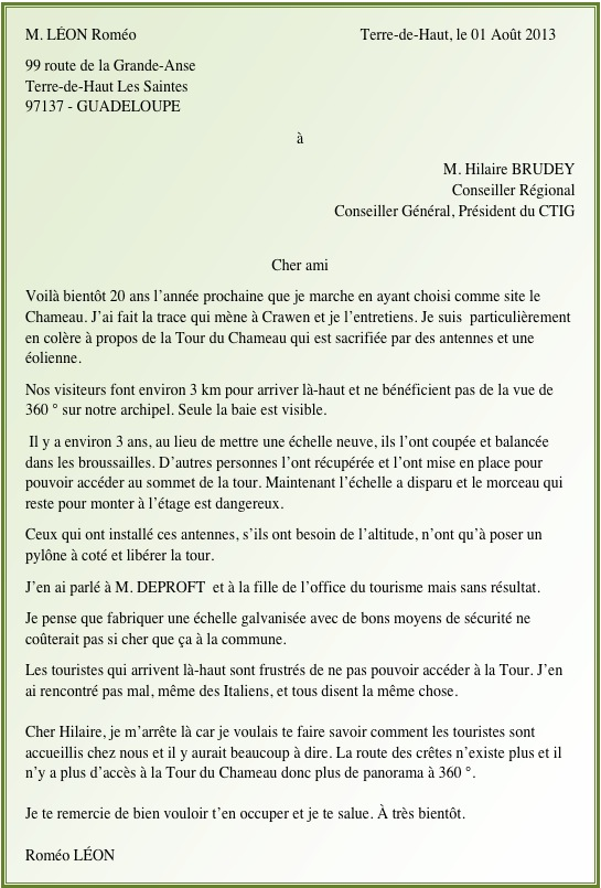Lettre Rom