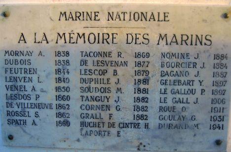 Mémorial des marins décédés