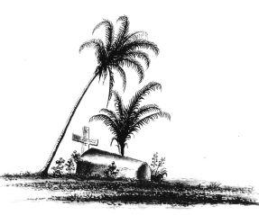 Tombe de Caroline au Cimetière de Terre-de-Haut en 1825