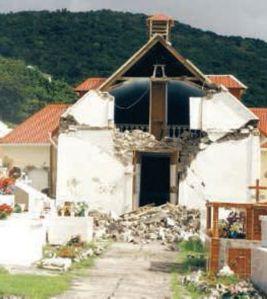 Église de Terre-de-Bas après le séisme de 2004