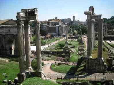 Le Forum vu des musées capitolins