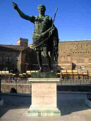 Statue d'Auguste non loin du Forum