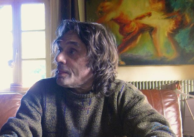 Jean-Claude Lavaud chez lui. Photo R. Joyeux