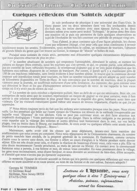 La lettre de M. TEMMER