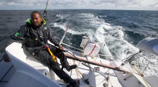 Nicolas sur son bateau - Ph Guadeloupe Grand Large