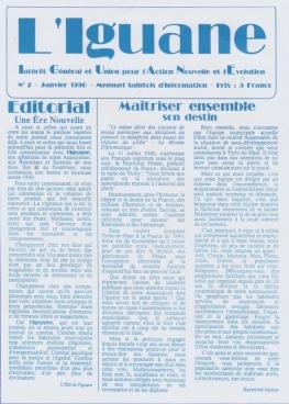 Journal L'IGUANE - N° 2 Janvier 1990