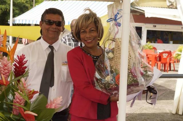 Gaston Hoff et, parrain et marraine de Miss Caraïbes