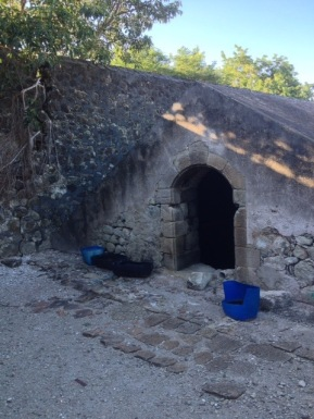 Une des trois citernes de l'Îlet à Cabris, état actuel