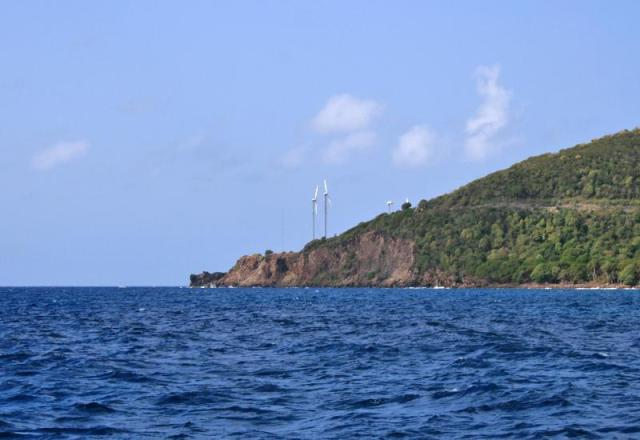 Éoliennes de Terre-de-Bas - Ph. Guadeloupe tourisme