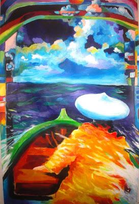 Boat : tableau d'Alain Joyeux