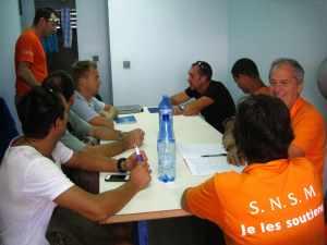 L'équipage de la SNSM en formation. Ph R.Joyeux