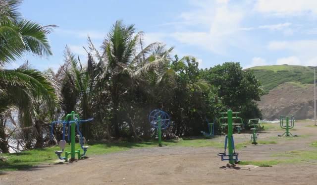 Équipements sportifs- plage de Grand'Anse- Ph R. Joyeux