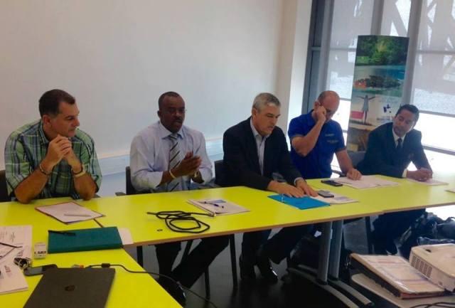 Capture d'écran RFO Guadeloupe- Le nouveau délégué au CTIG à coté du Président Ary Chalus