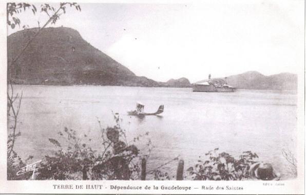 Hydravion en rade des Saintes pendant la guerre