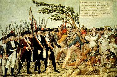 Plantation d'un Arbre de la Liberté à Paris en 1782