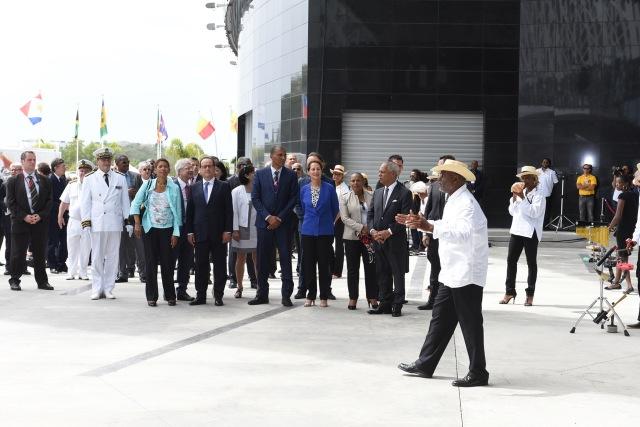 Inauguration du Mémorial ACTe - 15 mai 2015 avec Gérard GROS - Ph. Jessy Govindama