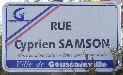 SAMSON Cyprien Plaque Rue